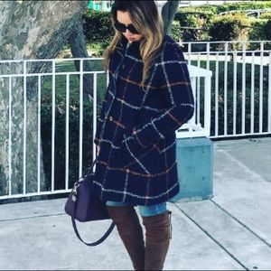 Plaid Boucle Coat